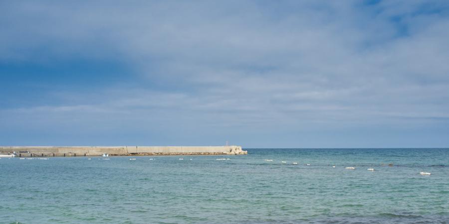 八ヶ崎海水浴場からの眺め